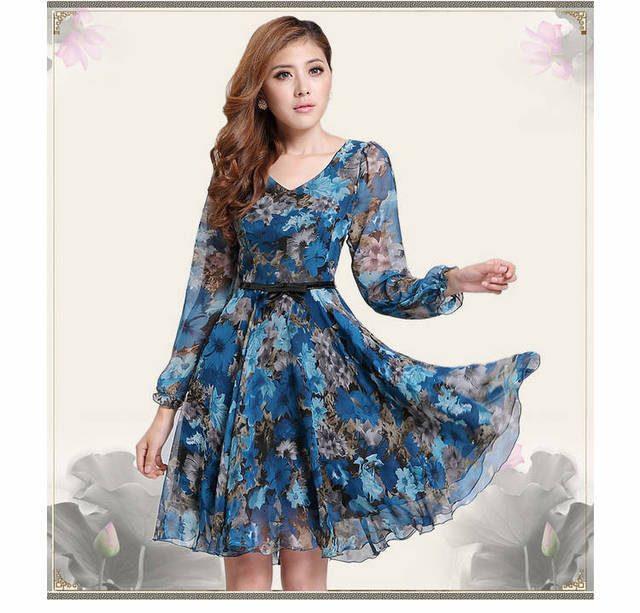 Yazlık Şifon Elbise Modelleri